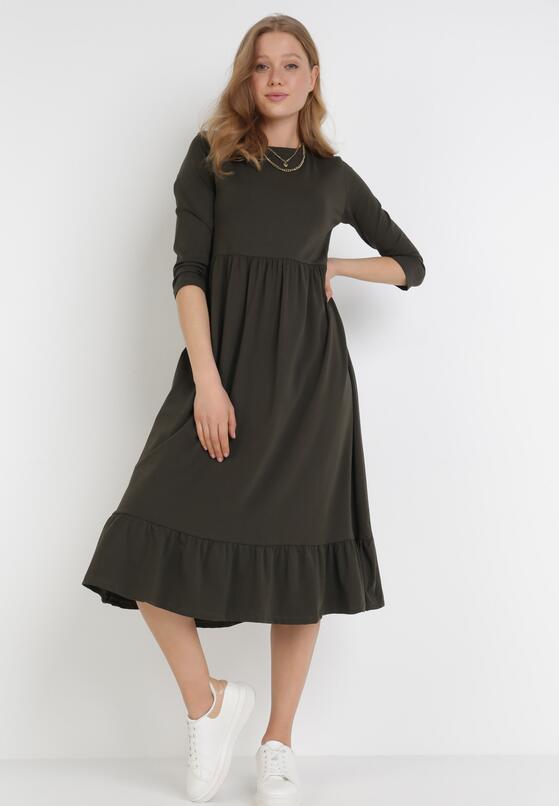Ciemnozielona Sukienka Himeete