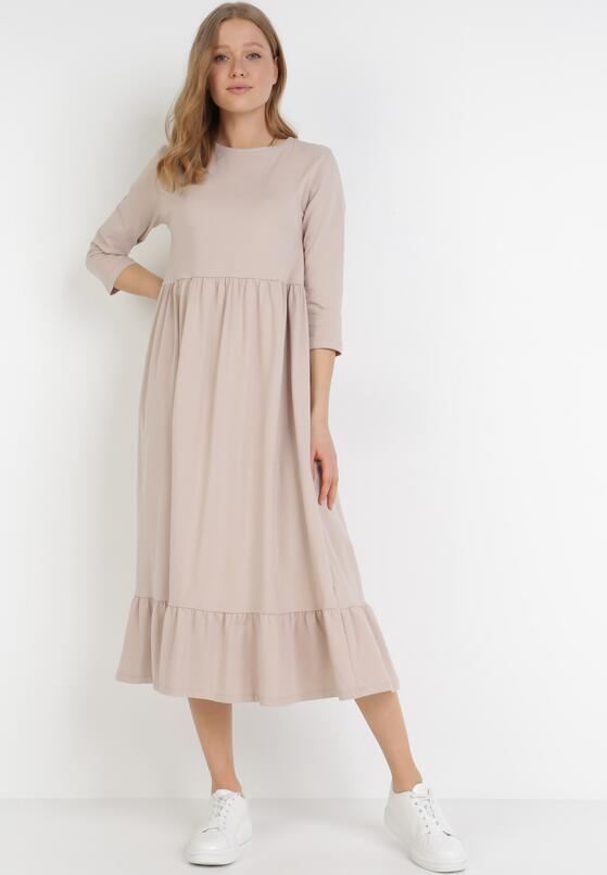 Beżowa Sukienka Himeete