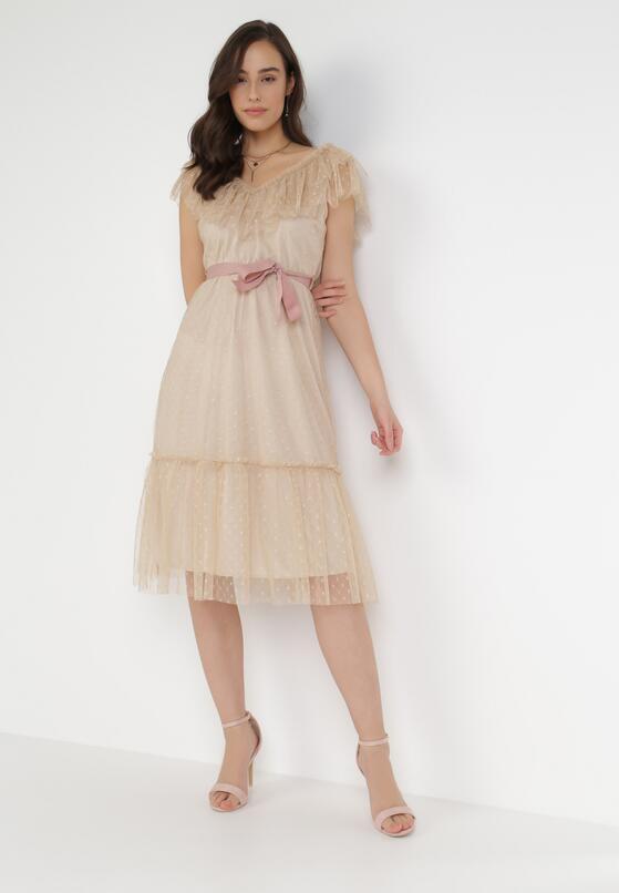 Beżowa Sukienka Loraille
