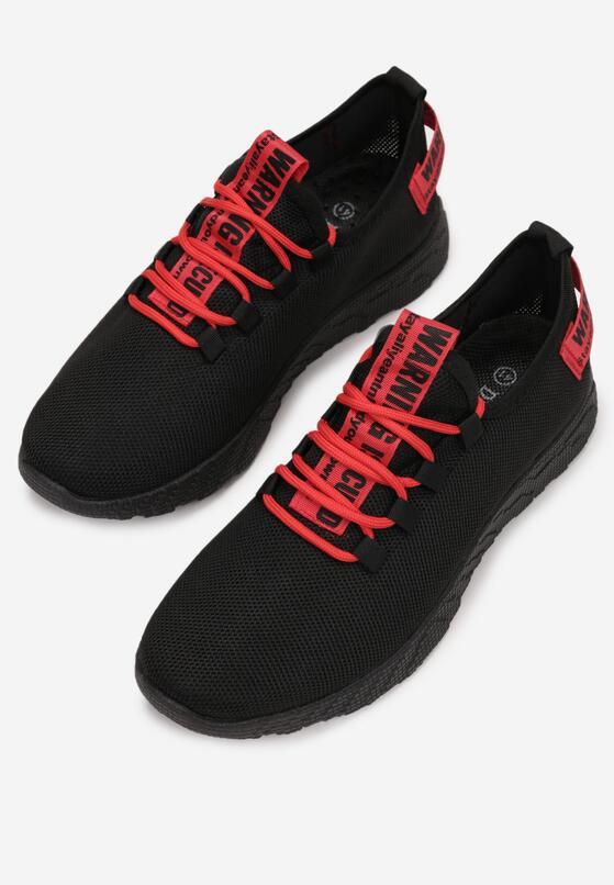 Czarne Buty Sportowe Oarane