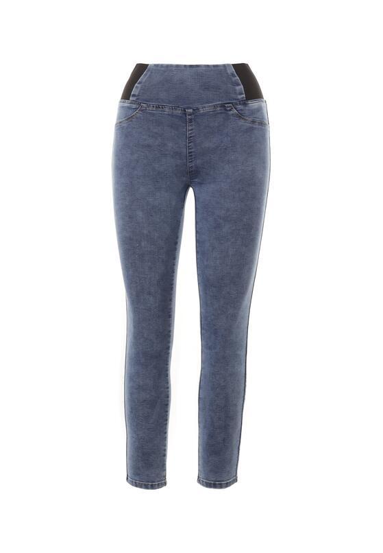 Niebieskie Jeansy Skinny Kahliteia