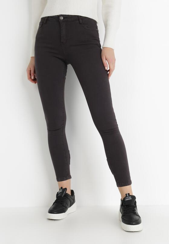Czarne Spodnie Skinny Helilacia