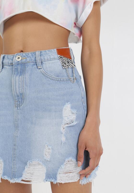 Jasnoniebieska Spódnica Trapezowa Keladora