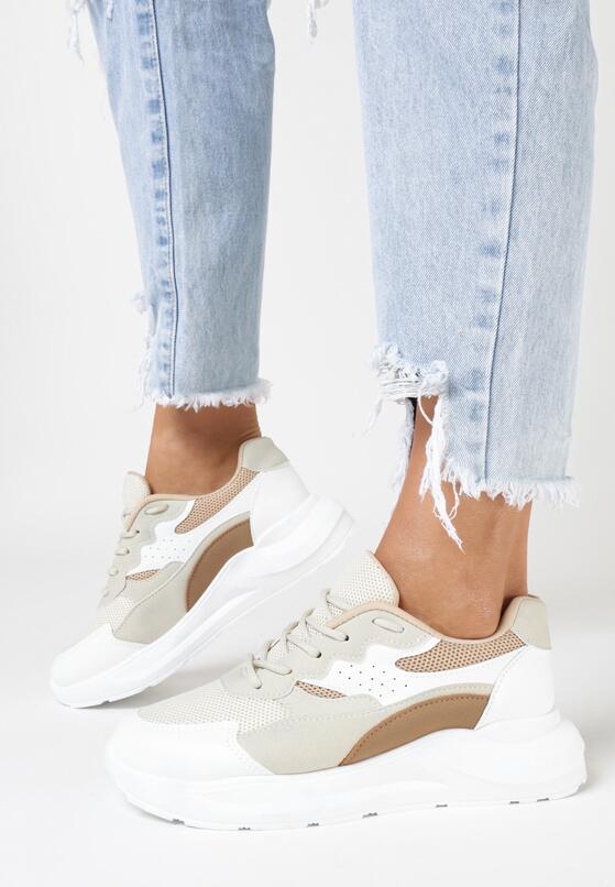 Beżowe Sneakersy Eireshell