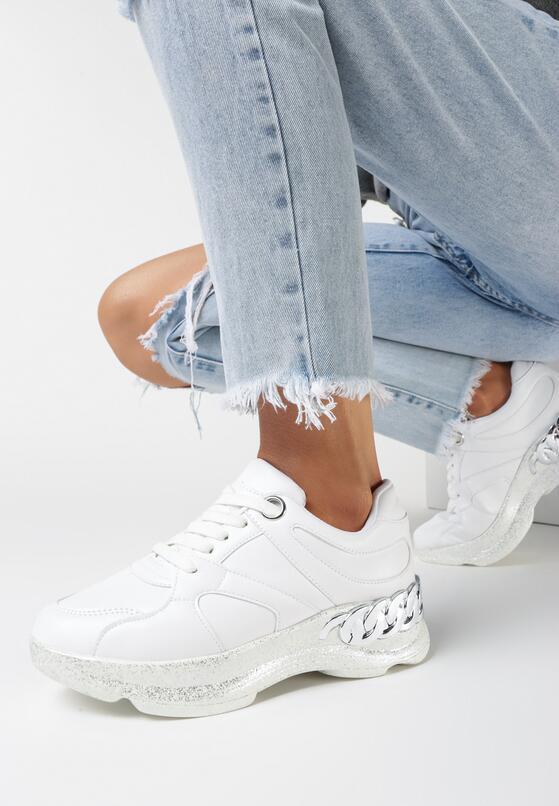 Białe Sneakersy Larailori