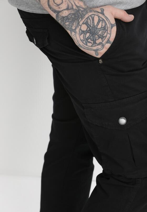 Czarne Spodnie Bojówki Tharea