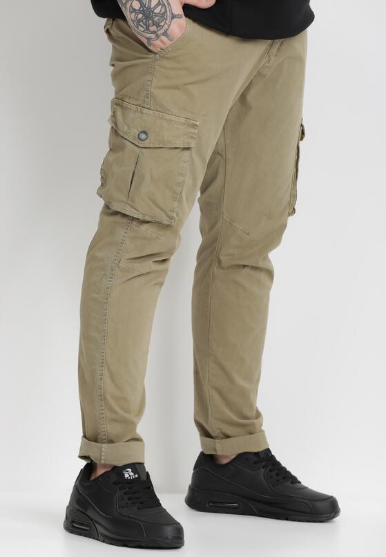 Beżowe Spodnie Bojówki Tharea