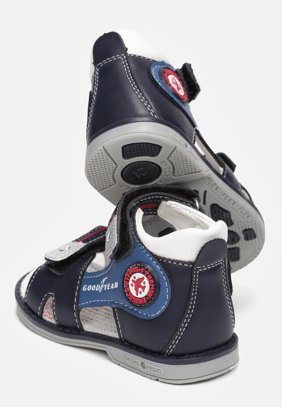 Czarno-Niebieskie Sandały Thalafa
