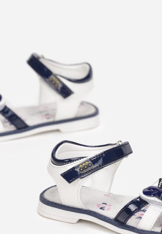 Biało-Niebieskie Sandały Alcitheis