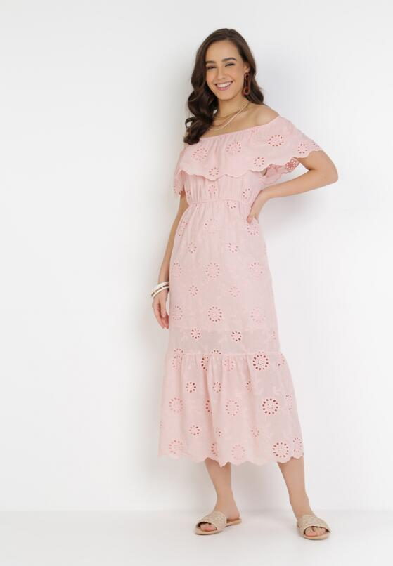 Jasnoróżowa Sukienka Pisiliphis