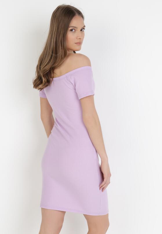 Liliowa Sukienka Bolimei