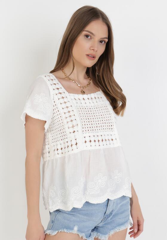 Biała Bluzka Iphalophi