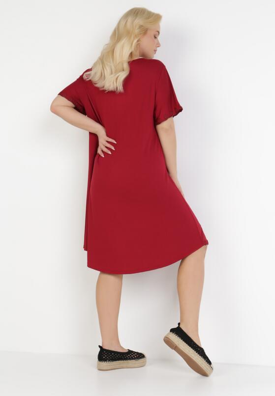 Bordowa Sukienka Thonigeia
