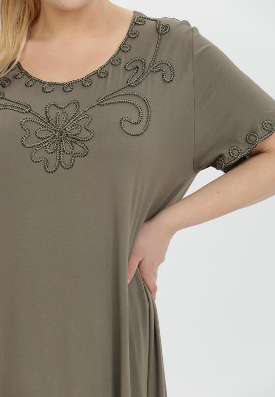 Ciemnozielona Sukienka Thonigeia