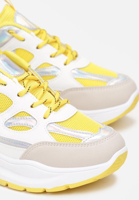 Biało-Żółte Sneakersy Xenielle