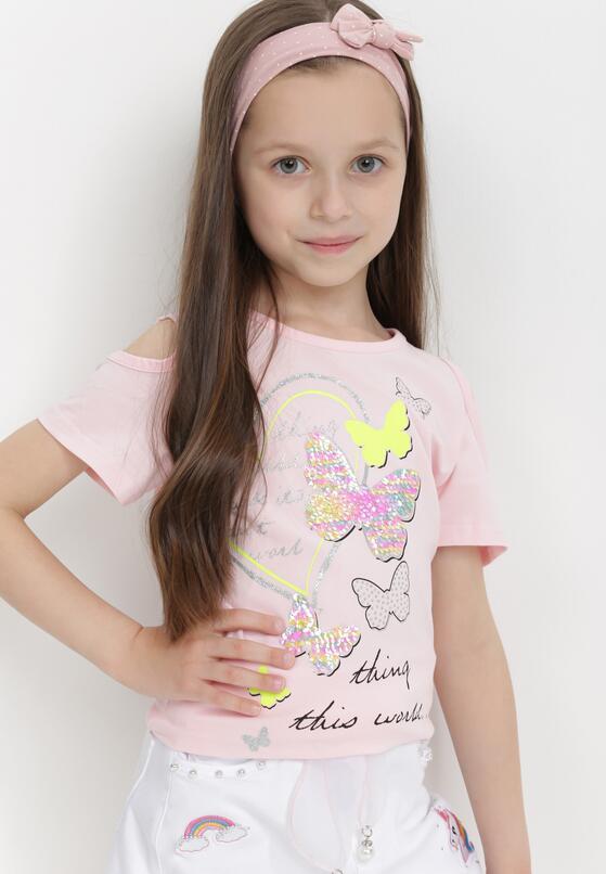 Jasnoróżowa Koszulka Ilanea