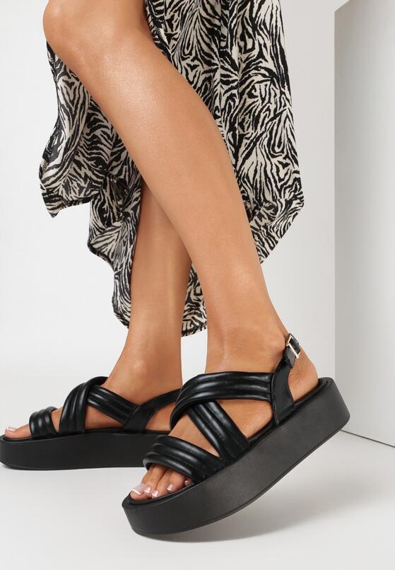 Czarne Sandały Salariko