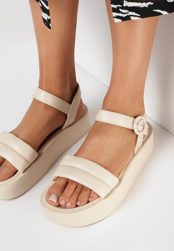 Beżowe Sandały Physateia