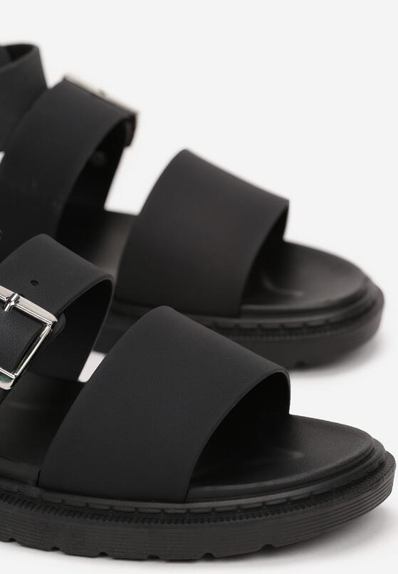 Czarne Sandały Iphadise