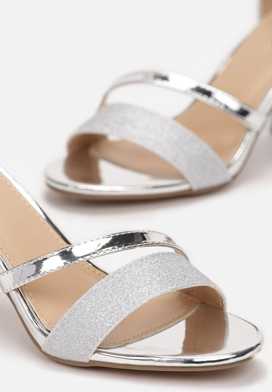Srebrne Sandały Delolia