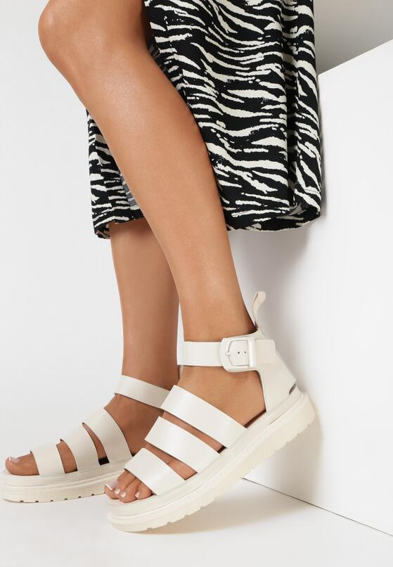 Beżowe Sandały Aethinoire