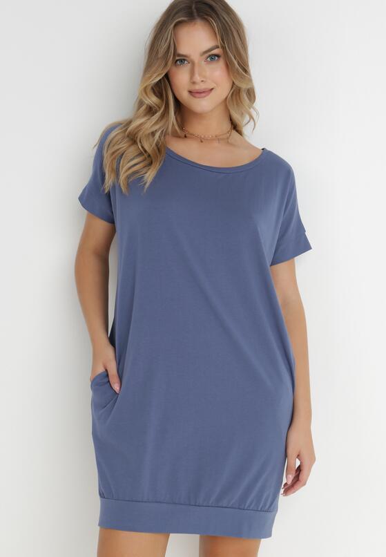 Niebieska Sukienka Nesamia