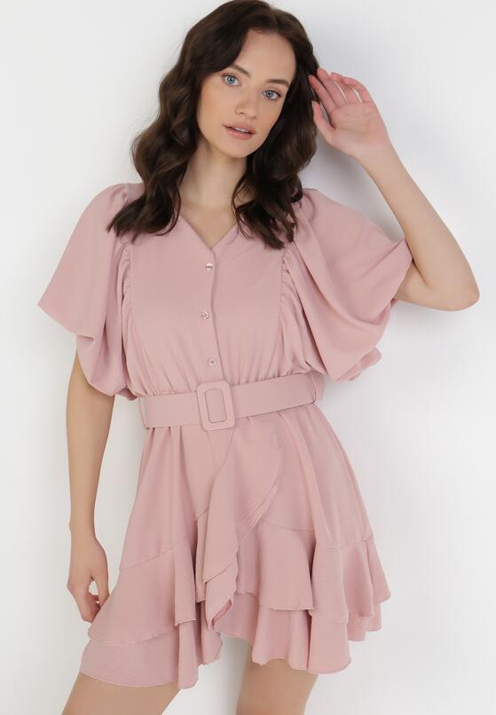 Ciemnoróżowa Sukienka Zelinoe