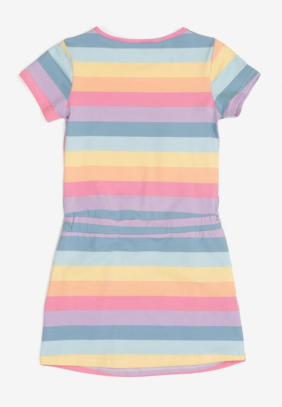 Niebiesko- Różowa Sukienka Thalusei