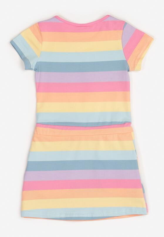 Niebiesko-Różowa Sukienka Pixeasi
