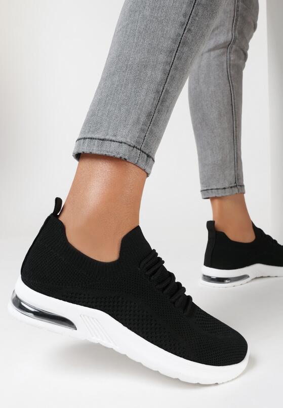 Czarne Buty Sportowe Savarephine