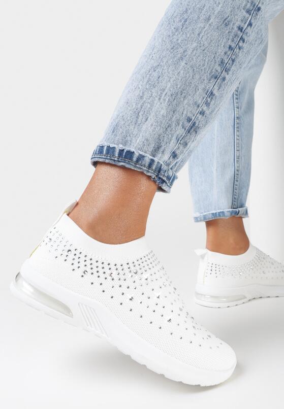 Białe Buty Sportowe Leucaphaura