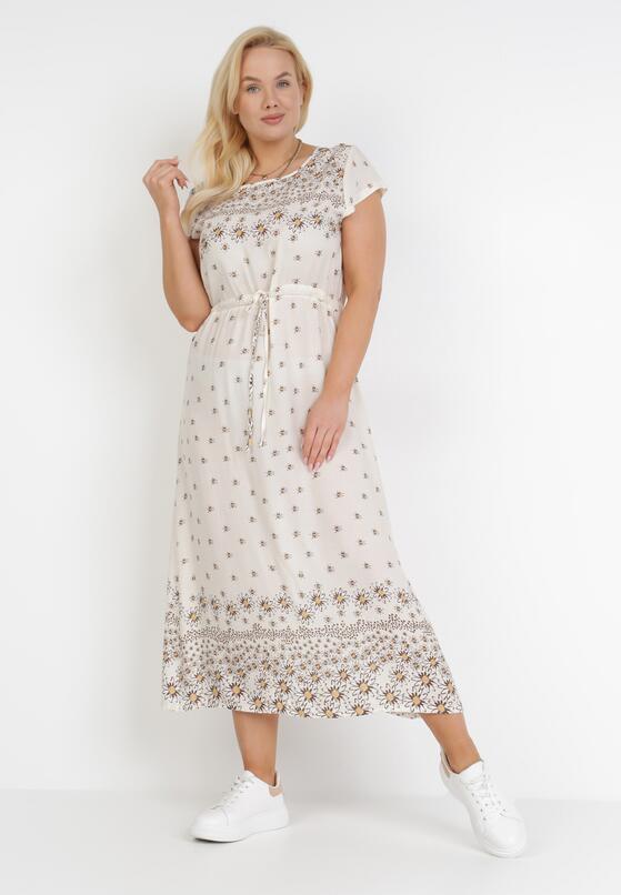 Kremowa Sukienka Lisaeia