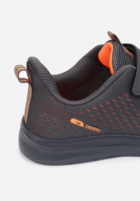 Szaro-Pomarańczowe Buty Sportowe Athilalise