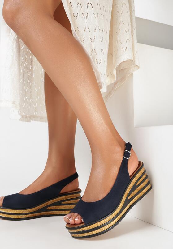 Granatowe Sandały Bathixera