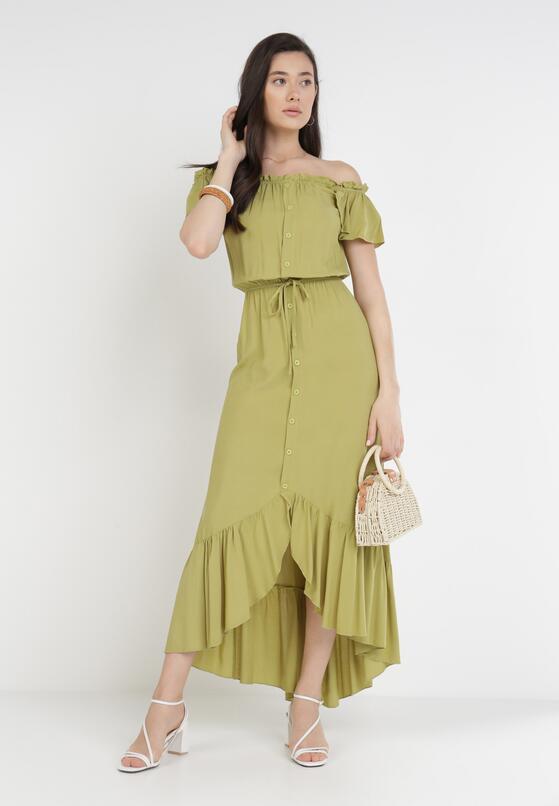 Zielona Sukienka Sinishis