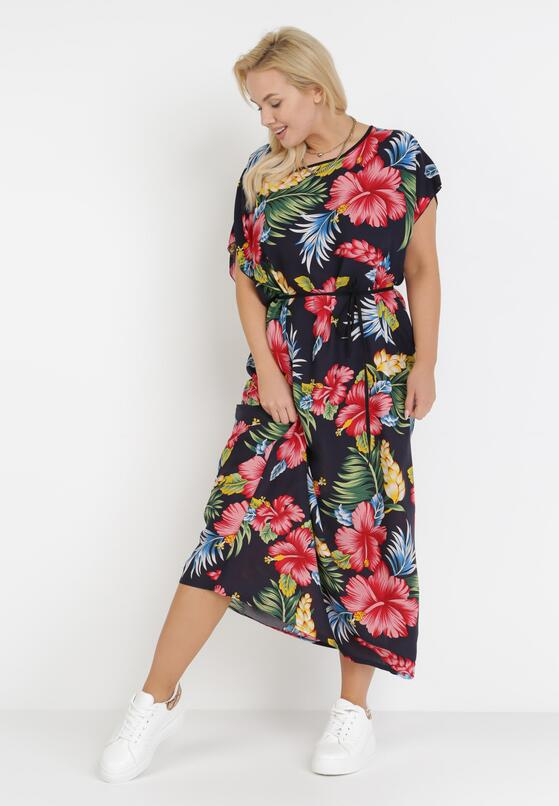 Granatowa Sukienka Pasophai