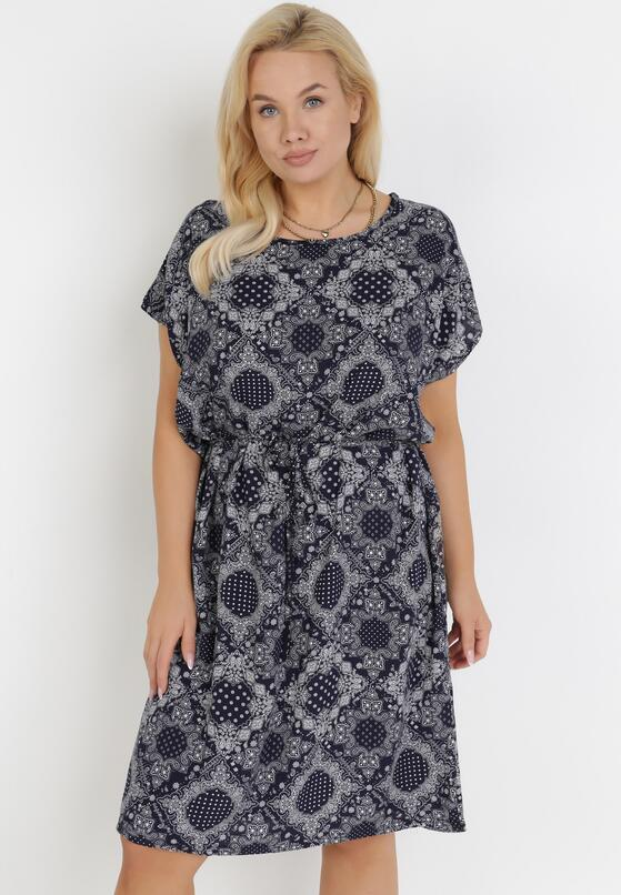 Granatowa Sukienka Daphnithe