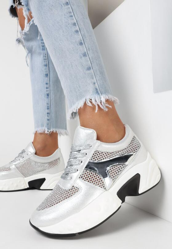 Srebrne Sneakersy Phrixisha