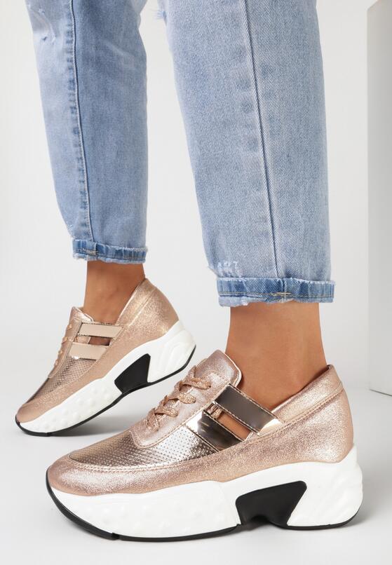 Różowe Sneakersy Psalosi