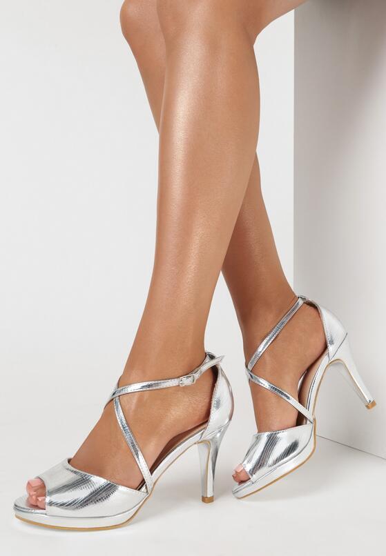 Srebrne Sandały Pixaxaura