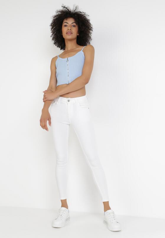 Białe Spodnie Skinny Netheilla