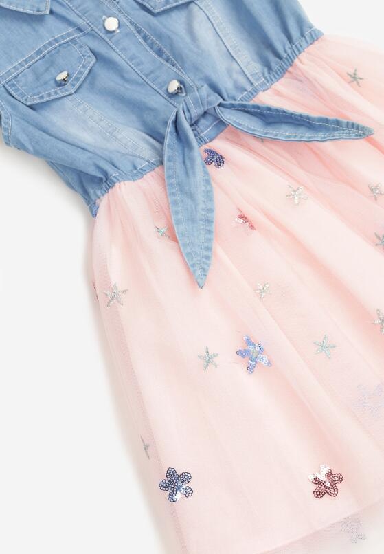 Jasnoróżowa Sukienka Olithenis