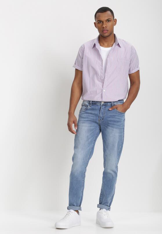 Biało-Bordowa Koszula Theisine