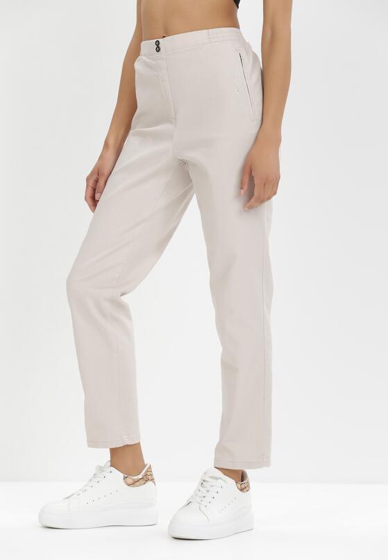 Beżowe Spodnie Iphyxio