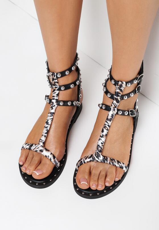 Czarne Sandały Doriche
