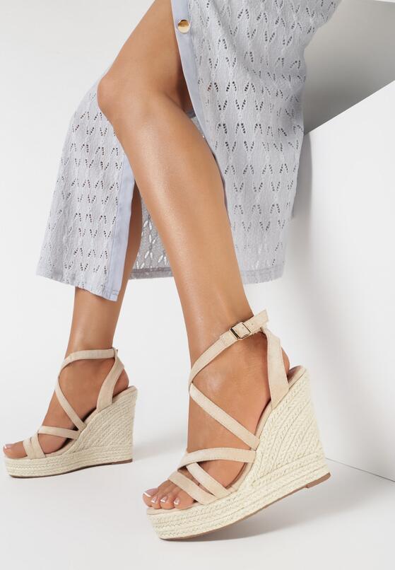 Beżowe Sandały Iphali