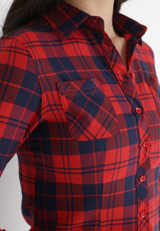 Granatowo-Czerwona Koszula Saliaphe