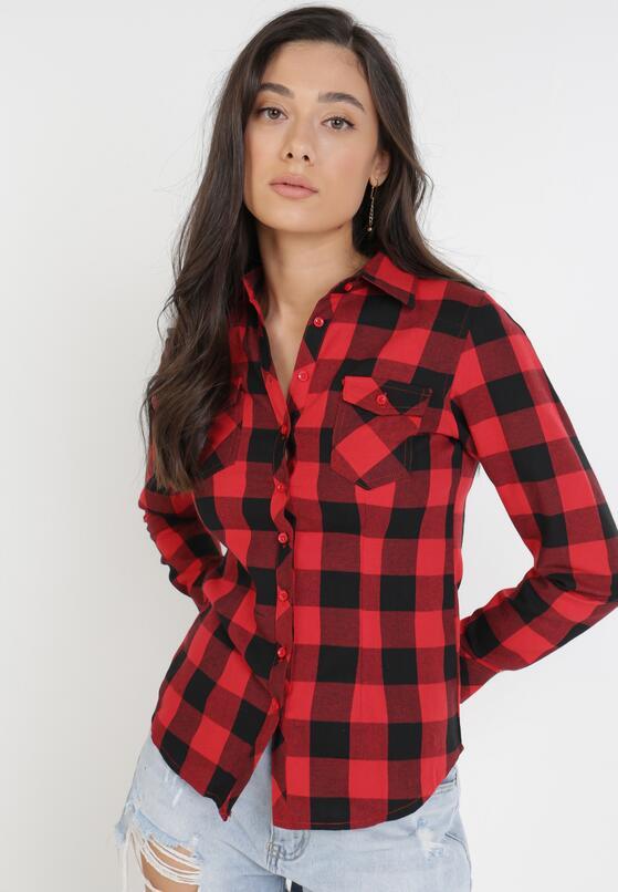 Czarno-Czerwona Koszula Siniaphe