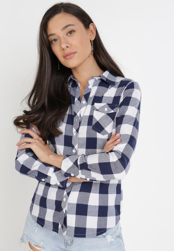 Granatowo-Biała Koszula Siniaphe