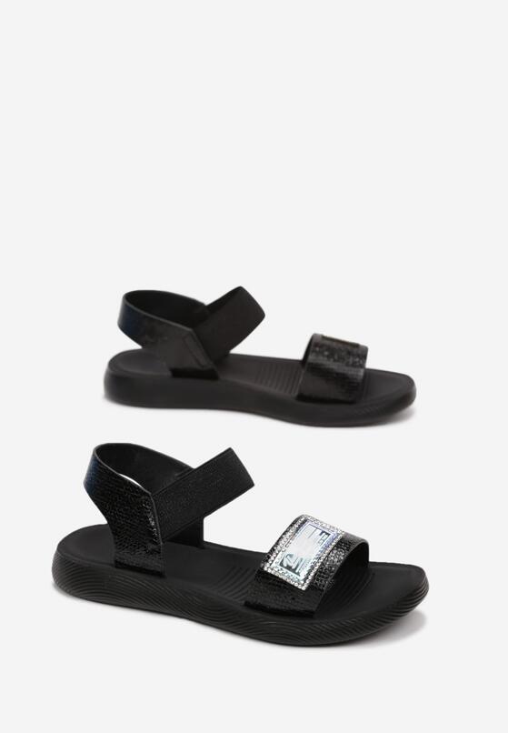 Czarne Sandały Astrolphi